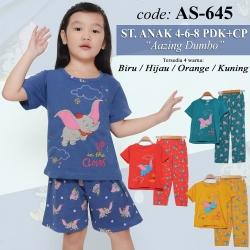 Setelan Celana Pendek Anak 4 - 6 - 8
