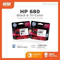 HP 680 Black dan Tri-color