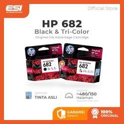 HP 682 Black dan Tri-color