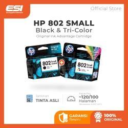 HP 802 Black dan Tri-color
