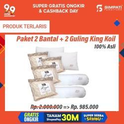 Paket 2 Bantal dan 2 Guling King Koil